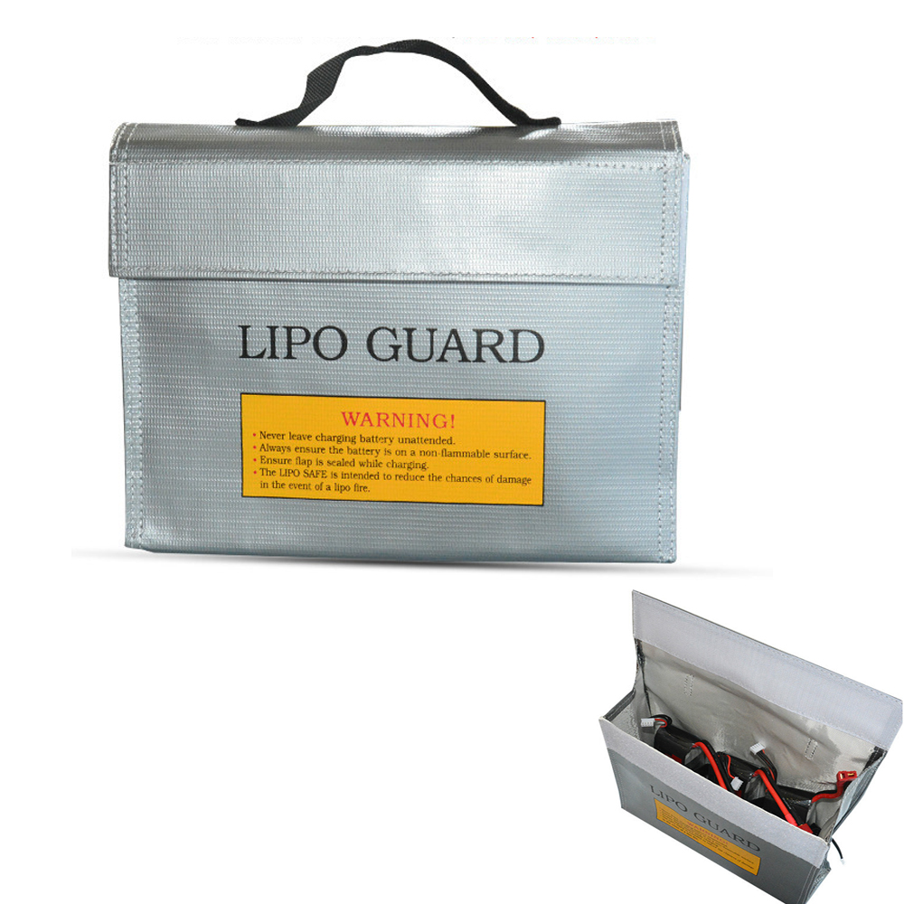 Fireproof RC LiPo Battery Safety Bag Charging Protection Explosion-proof Safe Guard Bag Sack 240 X 180 X 64MM