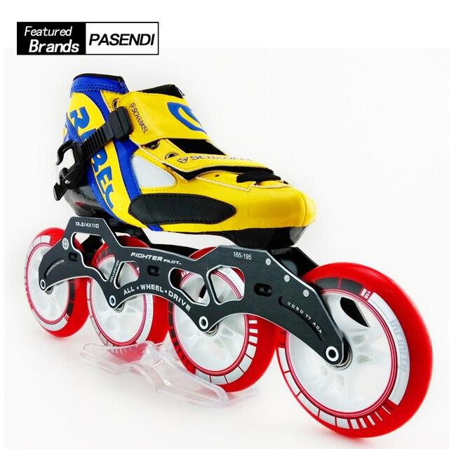 size 40 2af8b d577e Di alta Qualità Professionale Adulti Velocità Roller Skate, quattro Ruote  Pattinaggio Scarpe Da Skate Atletica Per Gli Uomini scarpe da skate inline