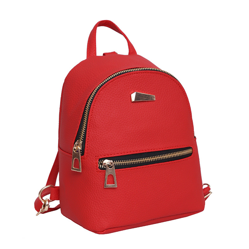 Women Backpacks Bags Leather Backpack Small Backpack Korean Wave Fashion Bag Leisure PU Shoulder Bag Female Student Bag