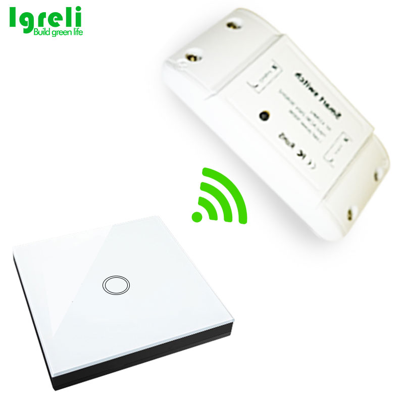 Igreli inalámbrico interruptor inteligente táctil palo, hogar común Diy modificación partes con 433 Mhz mando a distancia del receptor para la luz casera