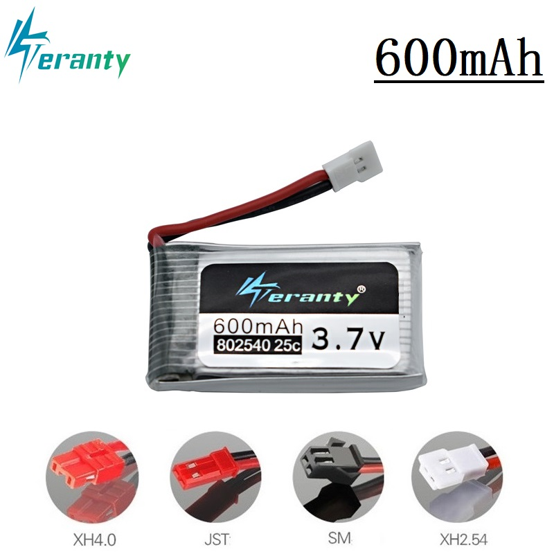 3.7V 600mAh 25c Lipo Battery 802540 For Syma X5 X5c X5HC X5HW X5SW CX-30 M68 509 509G 509W 510 RC Quadcopter Drone Spare Part