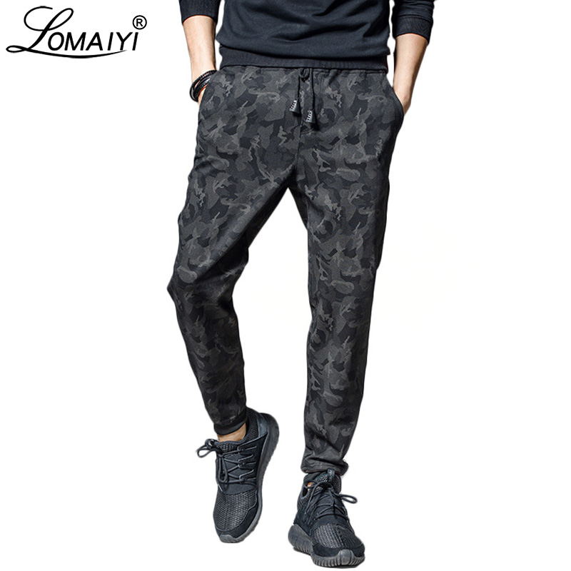 LOMAIYI Men Sweatpants Camo Joggers Men's Trousers 2019 Spring Summer Black Camouflage Jogger Track Pants Mens Sweat Pants BM238