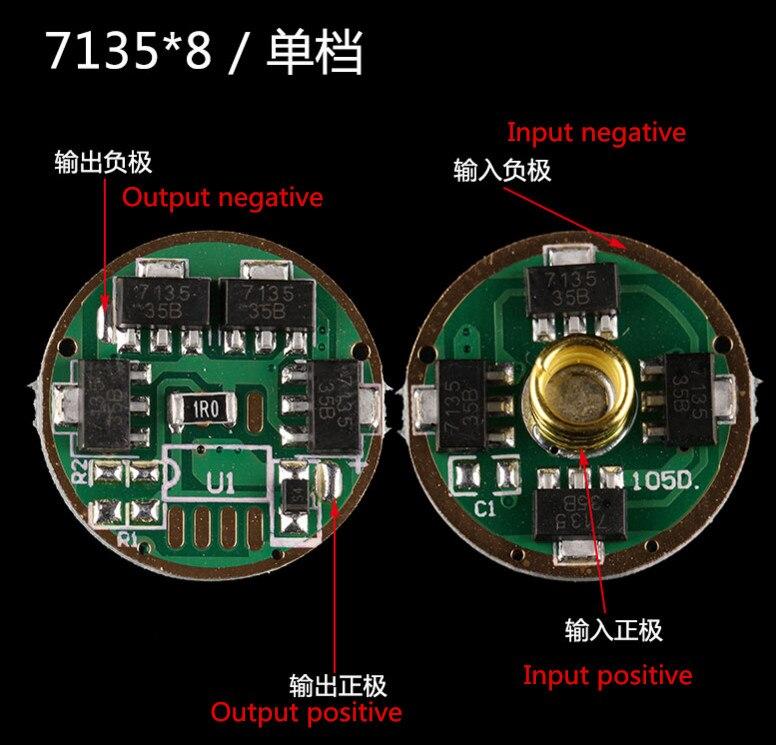 Free Ship 5PCS 7135*8 2.8A Single Drawn CREE XML2 T6 U2 High-power LED Driver Board Flashlight Driver Board