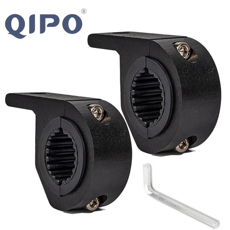 QIPO 2xUniversal Morbiker Holder Bull Bar Mount Bracket Fog Driving Light Spotlight Clamp Bracket For Car Motorcycle Crash Guard