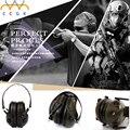 Fone de ouvido tático militar engrenagem Protetores de Ouvido Anti-ruído Earmuffs Proteção IPSC Tiro Esportivo Caça 3.5 Plugue Eletrônico