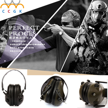Military gear Ear Protectors Anti-noise tactical headset IPSC Shooting Sport Hunting Three.5 Plug Electronic Protection Earmuffs