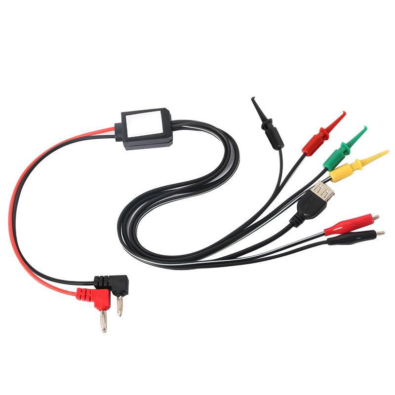 elecrow power supply test lead cable kit 2 alligator clips 2 banana plugs 4 hook clips diy kit