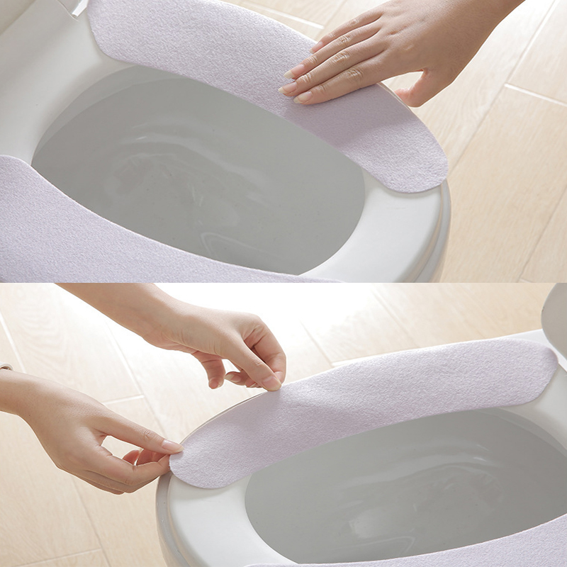 Image 4 - 2019 Warm Washable Sticky Toilet Mat Toilet Seat Cover Pad Household Reuseable Soft Toilet Seat Cover-in Toilet Seat Covers from Home & Garden