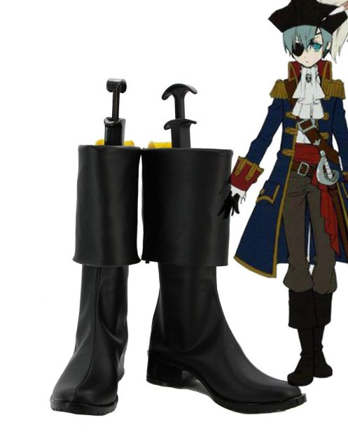 Black Butler 2 Kuroshitsuji Pirate Ciel Cosplay Shoes Boots Custom Made