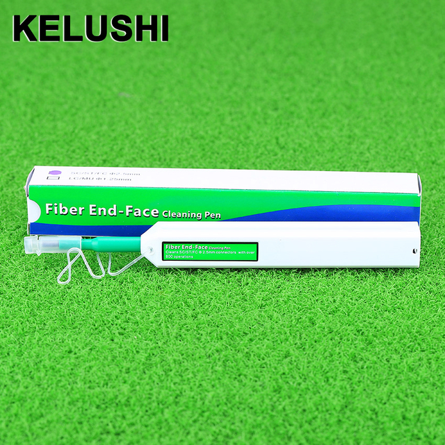 KELUSHI One-Click FTTH Fiber Optic Cable Tools Fibra Cable Connector Cleaner Pen type 2.5MM for SC ST FC connector Fiber Cleaner