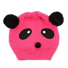Bel Animal Panda Bébé Chapeaux Et Casquettes Enfants Garçon Fille Crochet  Beanie Chapeaux Chapeau D  ed4a441e75f