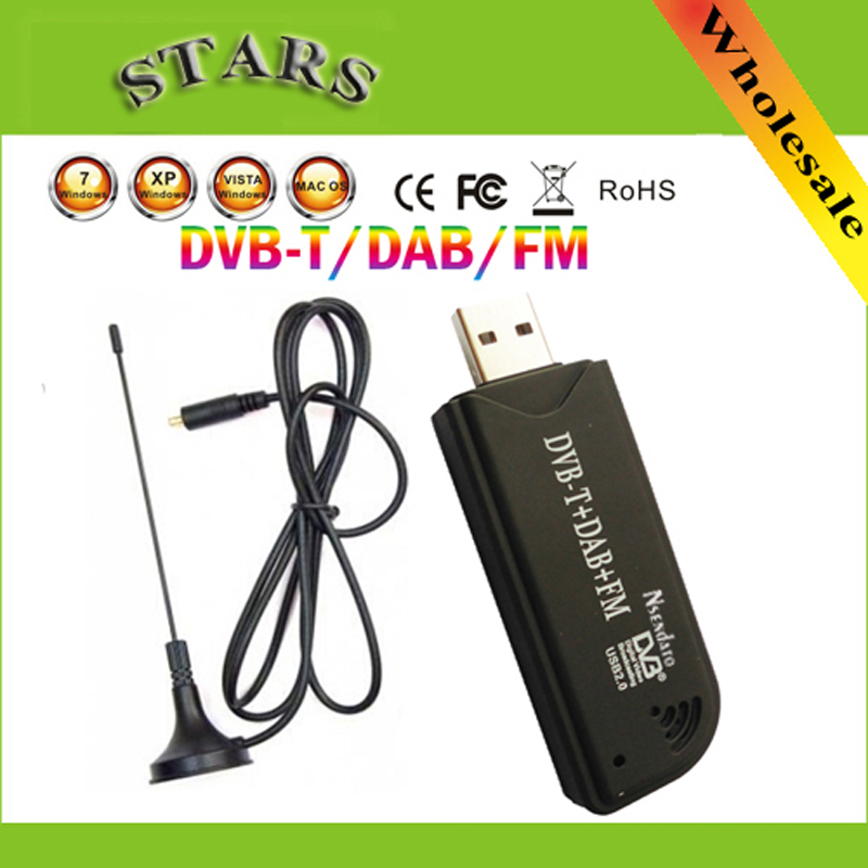 USB2.0 DAB FM DVB-T RTL2832U R820T2 SDR RTL-SDR Dongle Stick Digital TV Tuner Receiver IR Remote with Antenna,Dropshipping