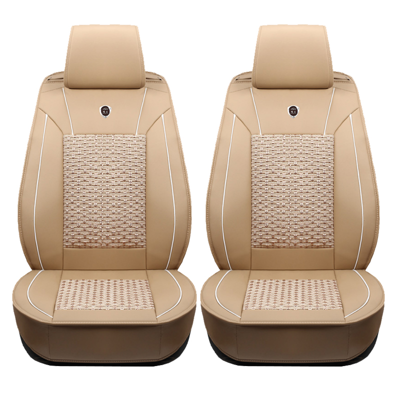 2pce Car seat covers For Mitsubishi Pajero ASX Outlander LANCER Auto Decoration Cars Accessories Styling Seat Protector HOT SALE