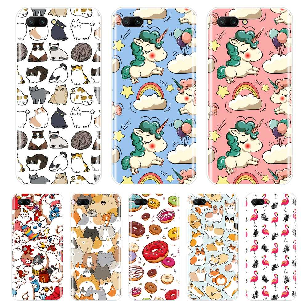 Silicone Case for Huawei Honor 7 8 9 10 LITE Soft TPU Cute Unicorn Cover for Honor 8X MAX 10 9 8 7 7S 7X 7A 7C Pro Phone Case
