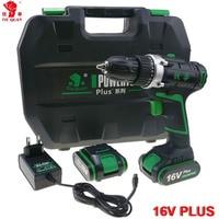 16V Power Tools Electric Drill Cordless Drill Electric Electric Drilling Battery Drill 2 Batteries Screwdriver Mini