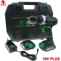 16V Power Tools Electric Drill Cordless Drill Electric Electric Drilling Battery Drill 2 Batteries Screwdriver Mini