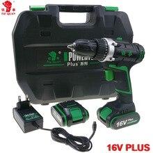 16V power tools electric Drill Cordless Drill Electric electric drilling battery drill 2 Batteries Screwdriver Mini Plus