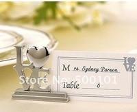 100 pz/lotto wedding favore del partito della decorazione d'argento del posto di Amore/foto titolare con la carta trasparente Spedizione Gratuita
