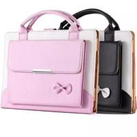 PU Leather Butterfly Knot Case For Apple IPAD 2 3 4 Case Flip Tablet Shell For