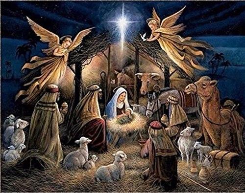 Jesus diy diamond painting birth of mosaic making  full round embroidery Cross stitch