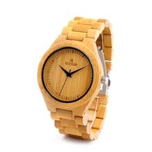 BOBOBIRD Diseño De Bambú De Bambú Del Reloj Para Hombre de Lujo Relojes de Marca Con bambú Band Japón 2035 Movem no Relojes de Cuarzo Para Los Hombres Como regalo