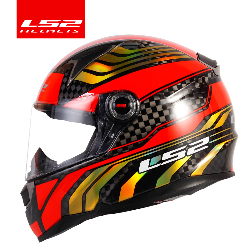 New Arriving original LS2 FF396 CT2 12K carbon fiber motorcycle helmet full face LS2 helmets casco casque moto no airbags pump ls2 helmet