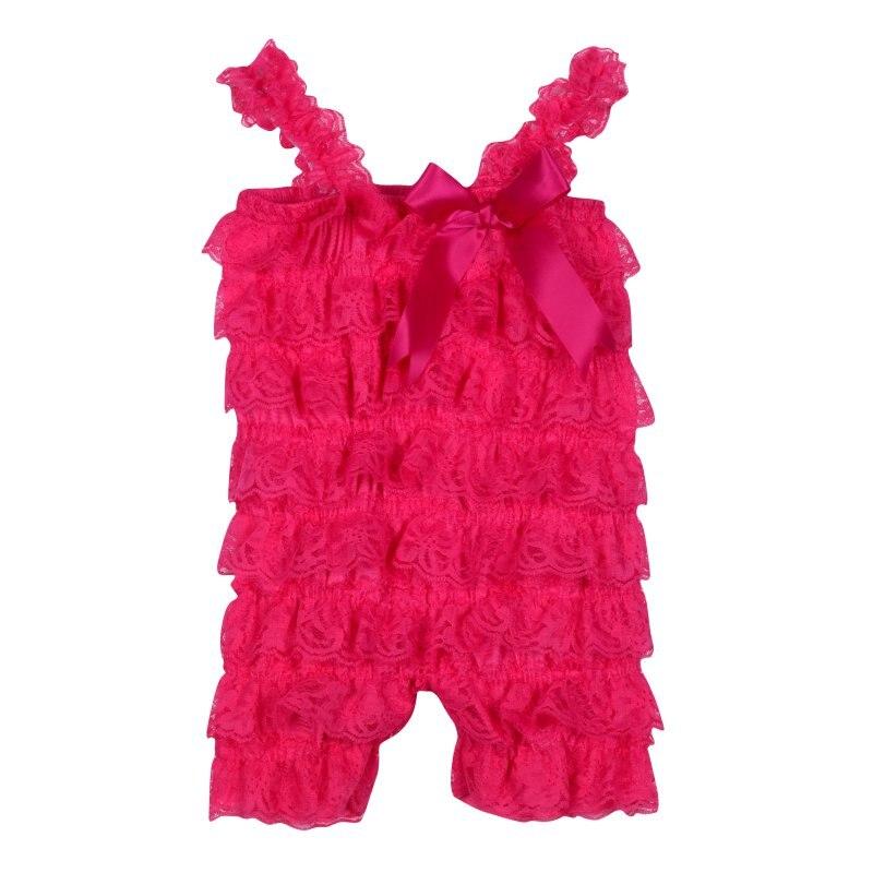 Прекрасные Детские для маленьких девочек Кружево Posh Петти рюшами Комбинезоны для малышек пачка От 0 до 3 лет летняя одежда x16