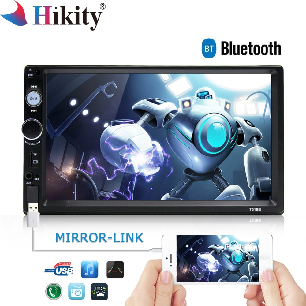Hikity 7010B 2 Дин радио свободная Frame MP5 мультимедийный плеер Bluetooth Mirrorlink аудио стерео Поддержка заднего вида Камера