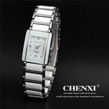 CHENXI Elegant Black Ceramics Simple Quartz