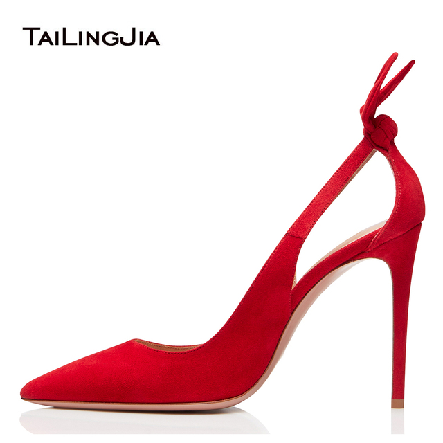 Elegant Pointed Toe High Heel Pumps with Bow Black Court Shoes Women Red  Evening Dress Heels Ladies Summer Shoes Big Size 2018 5ca73e50b088