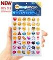 Nuevo ios 28 hojas/lot emoji emoticonos pegatinas etiqueta engomada apple iphone actualización que contiene un conjunto completo de más de 1,300 dzfollow