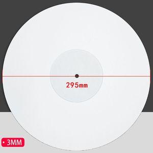 Image 5 - 12 بوصة 3 مللي متر الاكريليك سجل سادة مكافحة ساكنة LP الفينيل حصيرة Slipmat ل ملحقات الفونوغراف الدوار