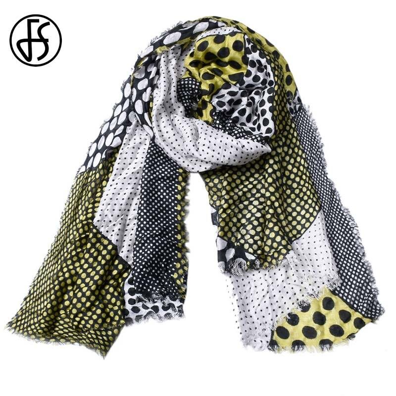 FS Scarf Designer Foulard Pashmina Tassels-Wrap Shawl Long Winter Femme Cotton Linen