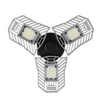 60W Led Deformable Lamp Garage Light E27 LED Corn Bulb Radar Home Lighting High Intensity Parking Warehouse Industrial Lamp x#