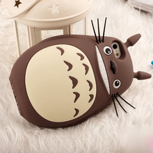 Totoro Cat Soft Silicon Back Cover Cases For iphone