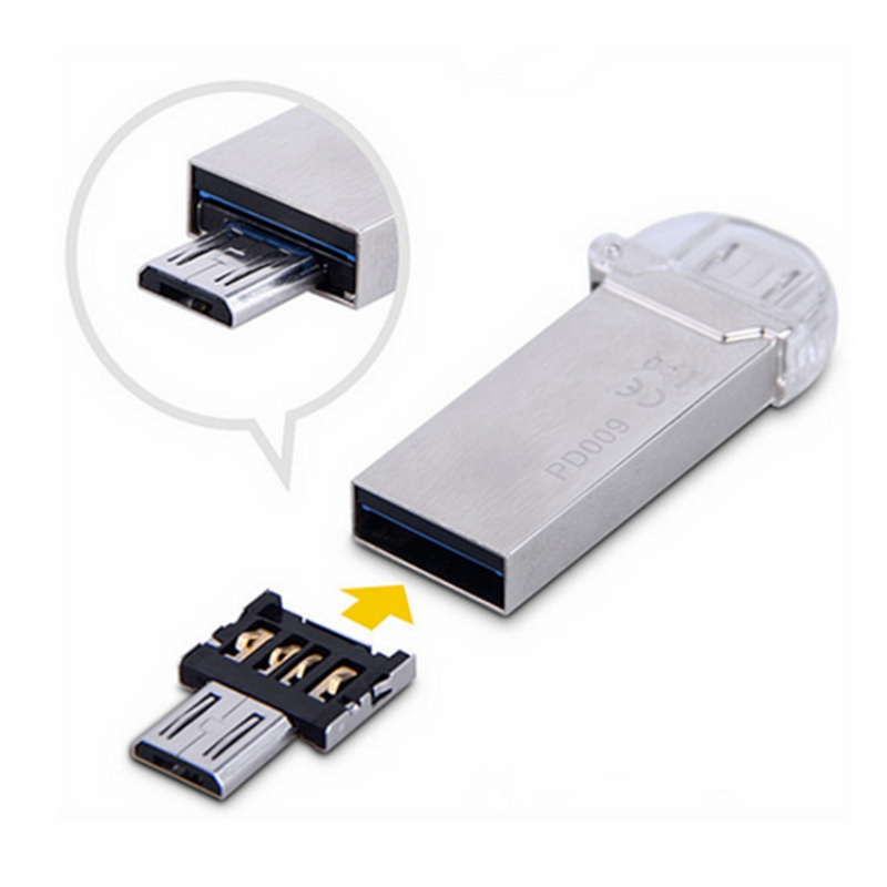 Portable Hot Sale Mini USB 2.0 Micro USB OTG Electronic Charger Converter Adapter Cellphone