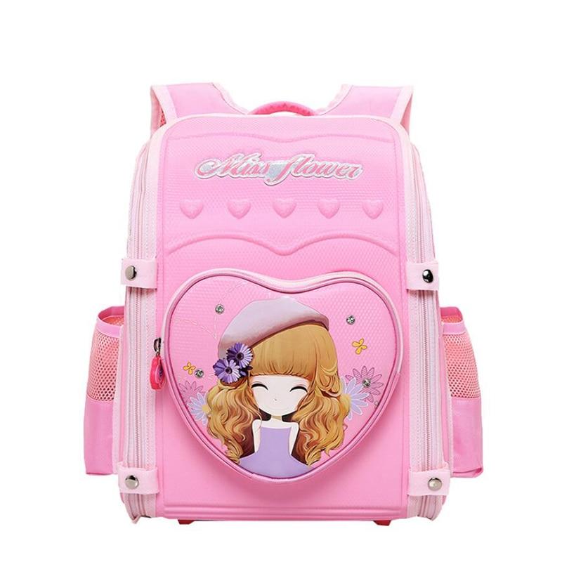 School bags for women cartoon Flower girls print backpack Foldable Orthopedic school bag 2019 Fashion EVA