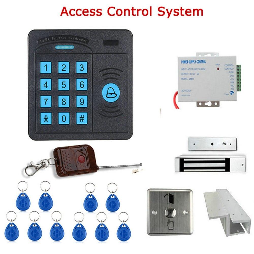 Contrôleur de système de contrôle d'accès de porte boîtier ABS lecteur RFID clavier télécommande 10 cartes d'identité serrure magnétique livraison gratuite