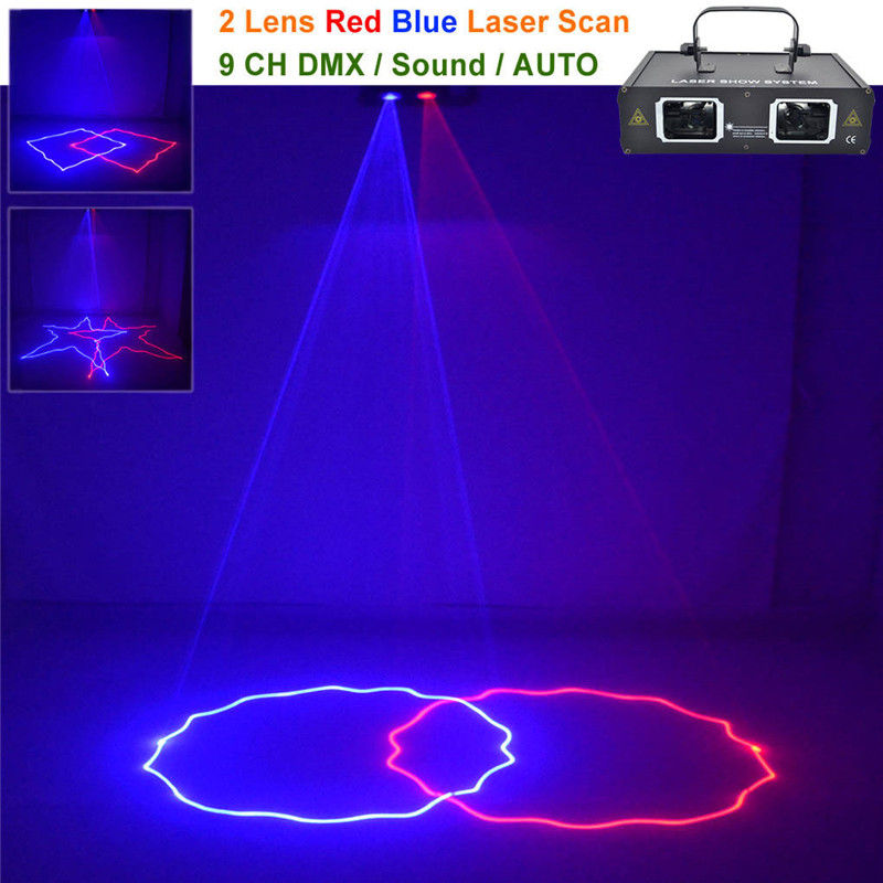AUCD 2 Lens Red Blue RB Beam Pattern Laser Light DMX 7CH PRO DJ Party Club Bar KTV Holiday Wedding Stage Lighting  DJ-506RB смартфон highscreen fest xl pro blue