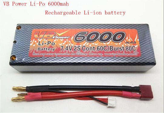 Power Li-Po 2S 7.4V 6000mah Rechargeable lithium battery Competition model of remote control car top capacity Li-ion battery 36v 4400mah 4 4ah dynamic li ion lithium ion rechargeable battery for self balance electric scooters power bank