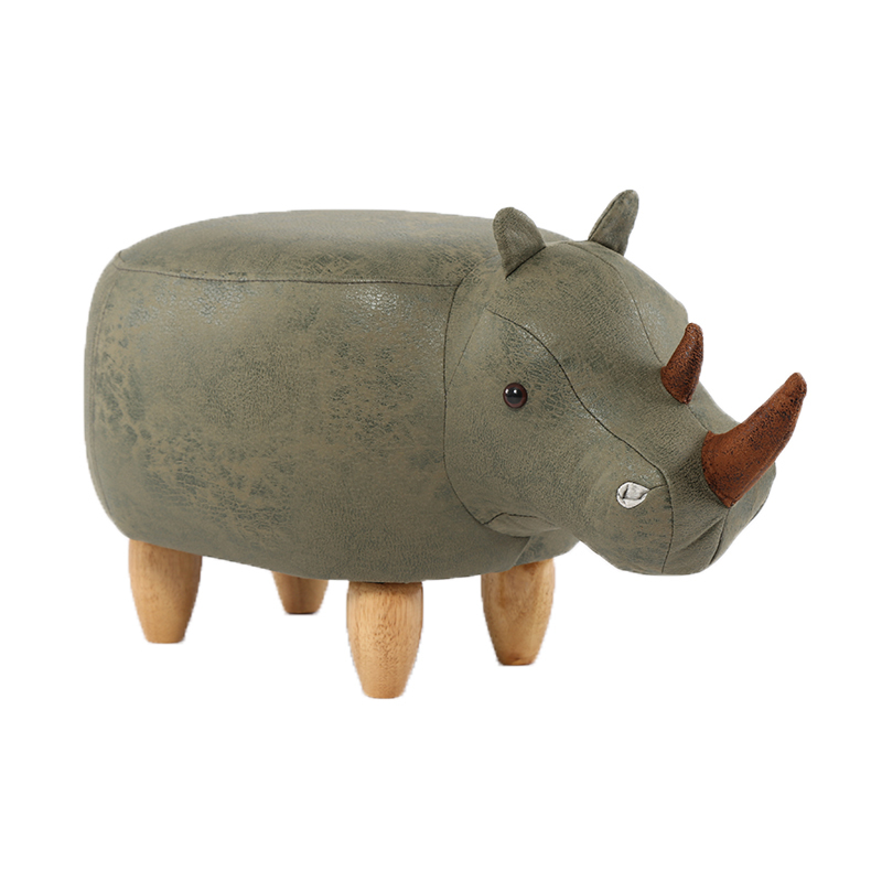 A2 Creative Rhinoceros Footstool Solid Wood Shoes Bench Sofa Altman Furniture Test Shoes Stool Storage Storage Stool