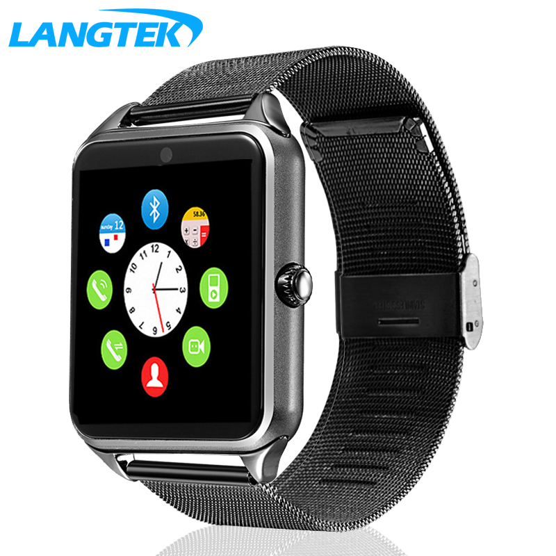 LANGTEK Smart Watch GT12 Clock Support Sync Notifier Sim Card Bluetooth Connectivity for Android Apple iphone Phone Smartwatch 696 smart watch q18 clock sync notifier support sim sd card bluetooth connectivity android phone smartwatch sport pedometer