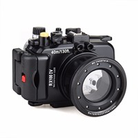Free ship 40m /130 feet Meikon waterproof camera housing case for Sony RX100 IV / RX100 M4