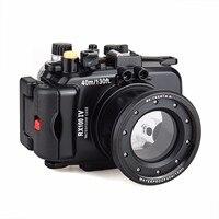Free ship 40m /130 feet Meikon waterproof camera housing case for Sony RX100 IV / RX100 M4