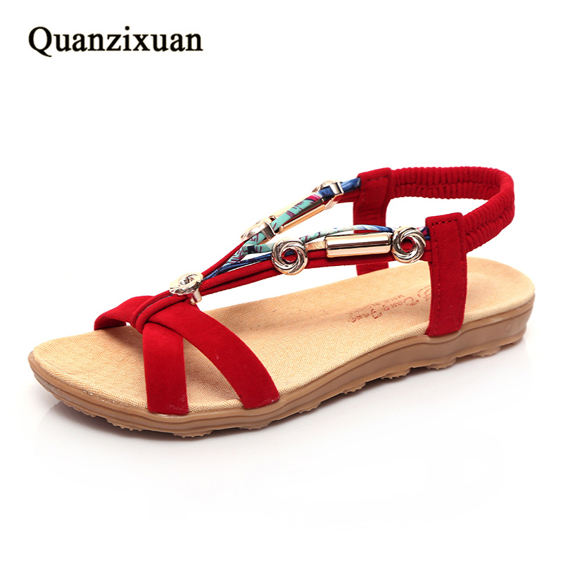Women Sandals Fashion 2018 Flat Sandals Women Summer Shoes Plus Size 41 42 aiyuqi 2018 new genuine leather women sandals plus size 41 42 43 fashion portable comfortable summer ladies flat sandals