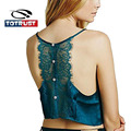 Women Sexy Lace Tank Tops Summer 2016 Fashion V neck Lace Sleeveless Blouse Camis Vest Casual Crop Tops Short Camisole Tank