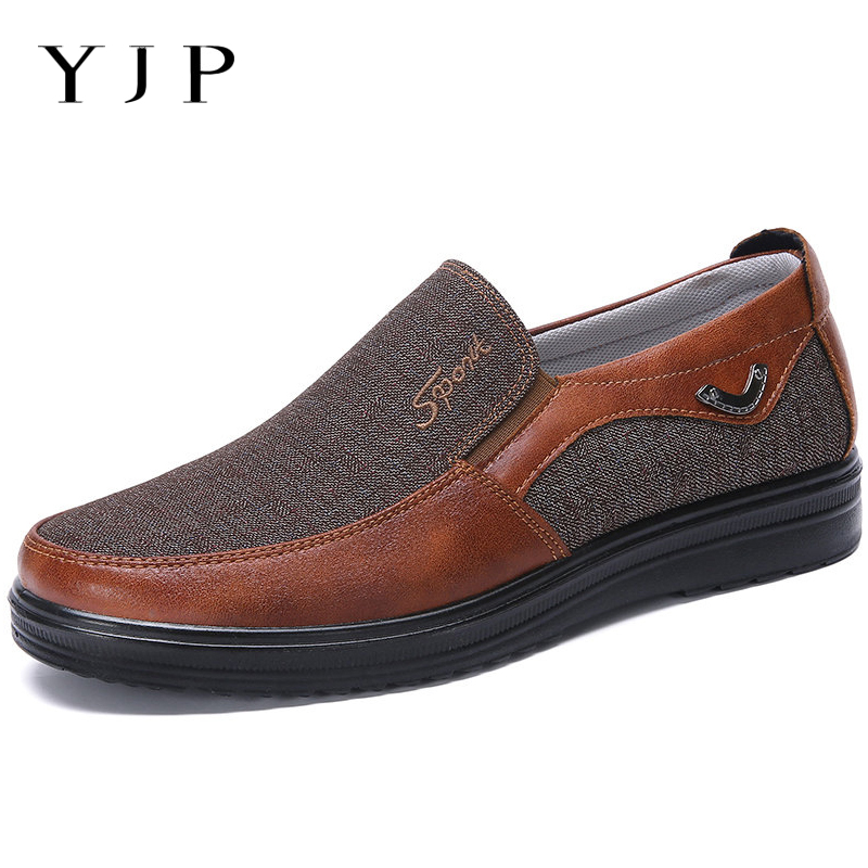 цена на YJP Large Size Men Shoes Casual Old Beijing Style Breathable Cloth Slip On Shoes Men Soft Sole Spring Summer Flats Sneakers New