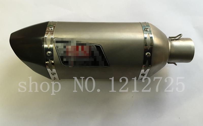 tubo di marmitta modificato moto generale modificato Tubo di marmitta esagonale Silenziatore di scarico in fibra di carbonio imitazione B Tubo di scarico esagonale in fibra di carbonio dimitazione