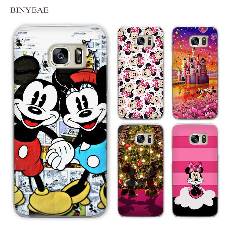 BINYEAE Minnie mouse Clear Phone Case Cover for Samsung Galaxy S3 S4 S5 Mini S6 S7 S8 Edge Plus