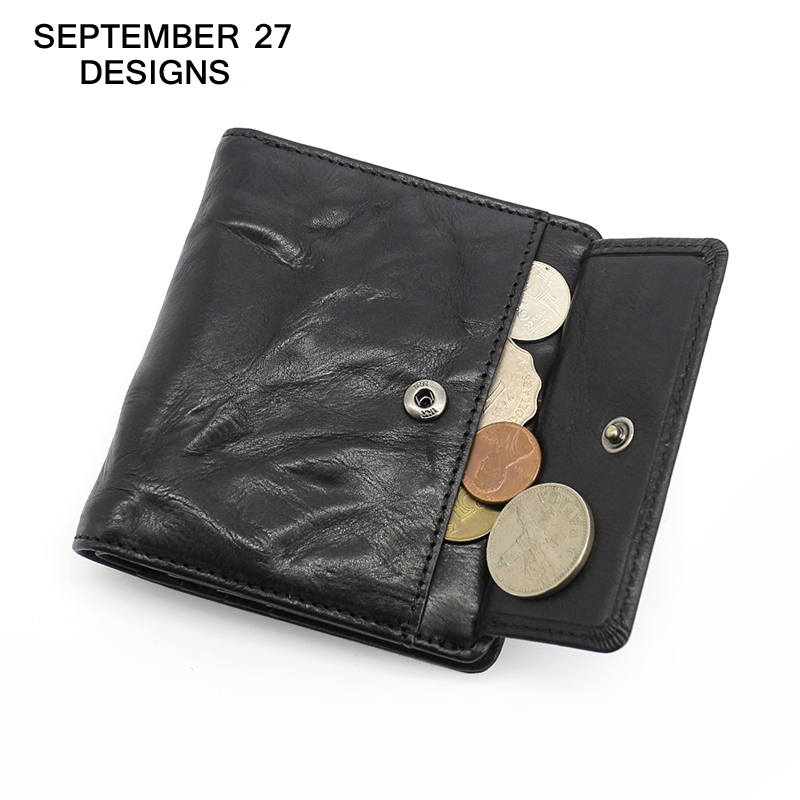 Wallet Men Top Genuine Leather Brand Fashion Short Wallets Vertical Small Clutches Mens coin Purses male Simple Bifold purse
